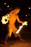 Kyoto fire dancer