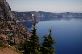 Crater Lake to the North and West