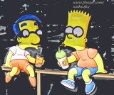 Milhouse & Bart
