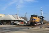 CN&W Depot Rochelle, Illinois. UP Train .JPG