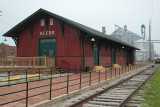 Chicago, Burlington &Quincy Depot  at Aledo, Illinois