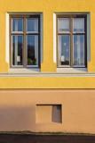 Windows on House at the corner Violgt.  - Kristian Augustsgt. Halden