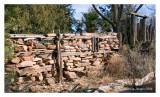 Found stone fence, Rowe, NM