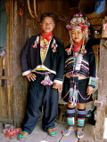 Akha couple in traditional dress