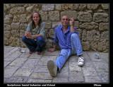 Sculpturer Daniel Baharier and Friend