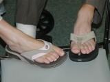 Laurel and Jon's flip flops