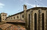 Gothic Church With Birds, Carcassonne