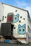 Art on the side of a Reykjavik house