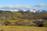 Wild terrain below Mount Hekla
