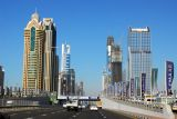 Sheikh Zayed Road on a rare occasion of light traffic