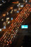 Traffic at night on Sheikh Zayed Road