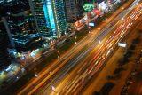 Traffic at night on Sheikh Zayed Road