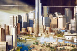 Detail of Downtown Dubai from Burj Dubai ad