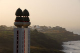 Modern minarets along the Dakar coast at Mermoz