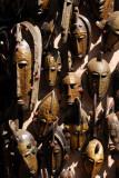Carved African masks, Maison des Artisans