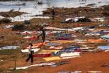 Washing laundry on the banks of the Niger, Bamako