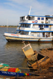 The Tomboctou tied up at Mopti