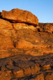 Red rocks around the village of Daga
