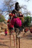 The impressive dancers on stilts