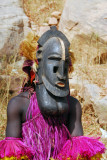 Dogon mask dancer after the performance