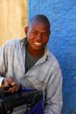 Man with a radio in Ayorou, Niger