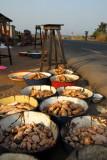 Yams at a roadside market, Benin