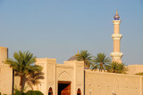 Souq gate and Great Mosque minaret, Nizwa