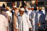 Omani men at the Nizwa livestock market