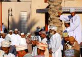 Omanis at the Nizwa livestock market