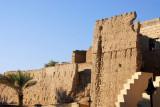 Unrestored mudbrick buildings behind the Nizwa souq