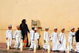Omani boys on a school excursion, Nizwa