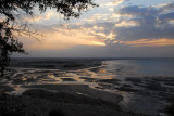 Sunset from Ras Sawadi with the beach at low tide