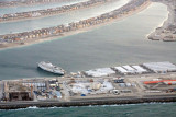 A second worker camp with ship for extra housing, Palm Jumeirah