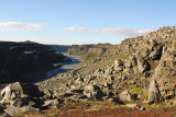The canyon downstream (north) of Dettifoss