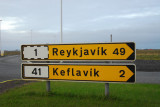 Keflavik Airport is about 50 km W of Reykjavik at the end of the Reykjanes Peninsula