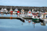 The small fishing harbor at the town of Keflavík