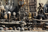 African wood carvings at Marché Kermel