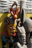 African masks at Marché Kermel