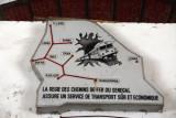 Route structure of Senegal Railways