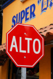 Mexican stop sign