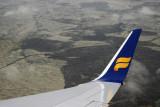Icelandair 757 winglet on approach to Keflavik