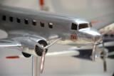 Douglas DC-2 model with TWA livery