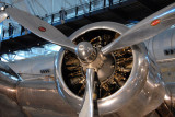 Radial engine of a B-307, Wright GR-1820 Cyclone (900hp)