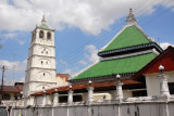 Kampung Kling Mosque, Melaka, with a distinctive SE Asian-influenced style