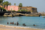 Local kids swimming, Île de Gorée
