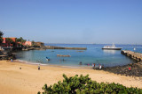 Beach and ferry jetty, Île de Gorée