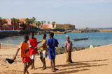 Kids near the harbor, Île de Gorée
