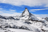 Matterhorn in winter, Zermatt, Swiss Alps