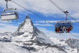 6-person chairlift to Gifthittli 2935m just below the Gornergrat Station