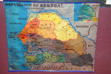 Map of the Republic of Senegal - we drove from Dakar to Tambacounda in a long day